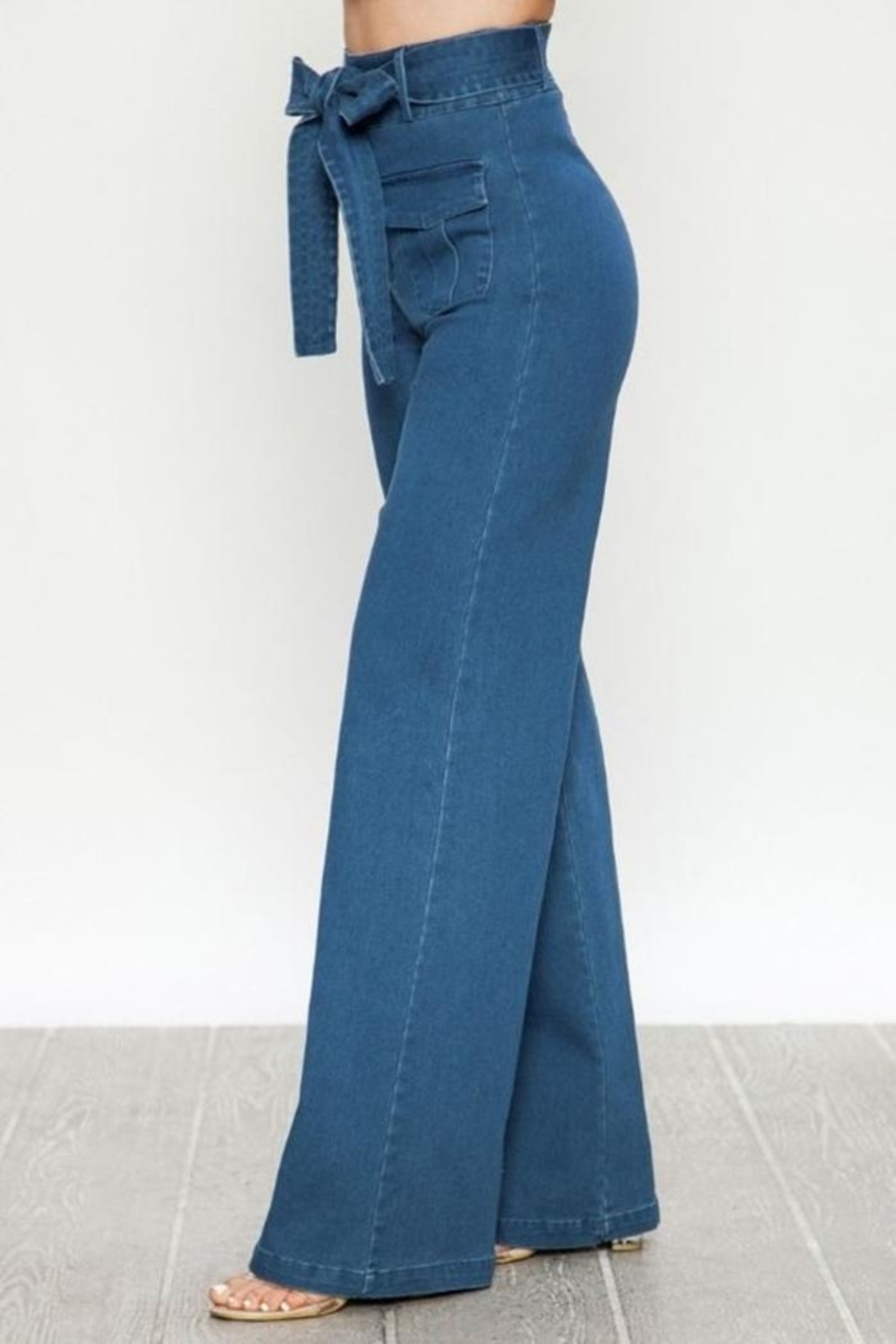 Flying Tomato Wide Leg Jeans - Side Cropped Image