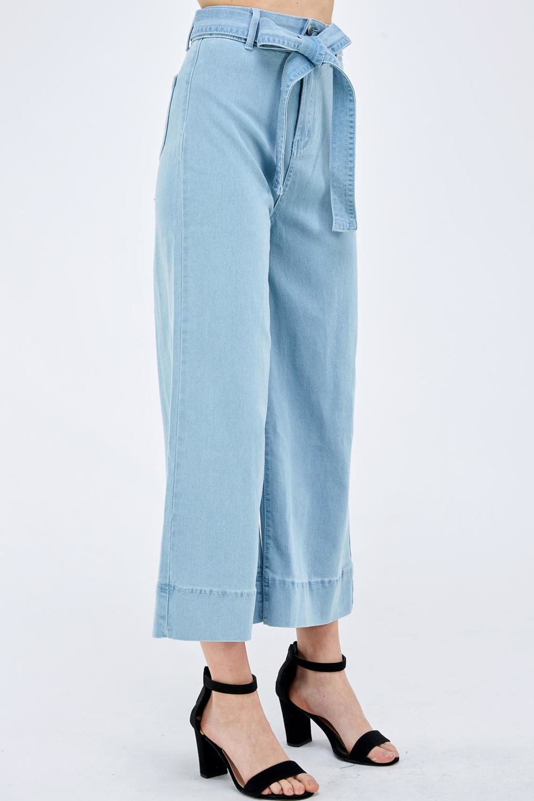 Flying Tomato Wide Leg Pants - Side Cropped Image