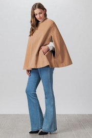 Flying Tomato Woven Cape Jacket - Back cropped