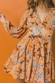 Flying Tomato Woven Dress W/ Plunging V Neckline - Back cropped