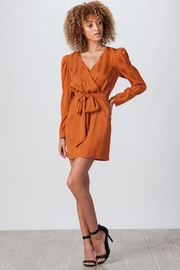 Flying Tomato Wrap Satin Dress - Product Mini Image