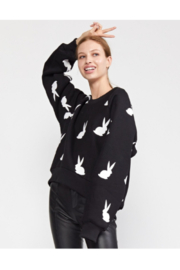 Cynthia Rowley Flynn Flocked Bunnies Sweatshirt - Product Mini Image