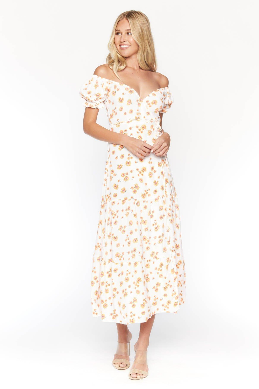Flynn Skye Annabelle Wrap Midi - Front Cropped Image