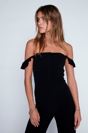 Flynn Skye Bardot Black Jumper - Front full body