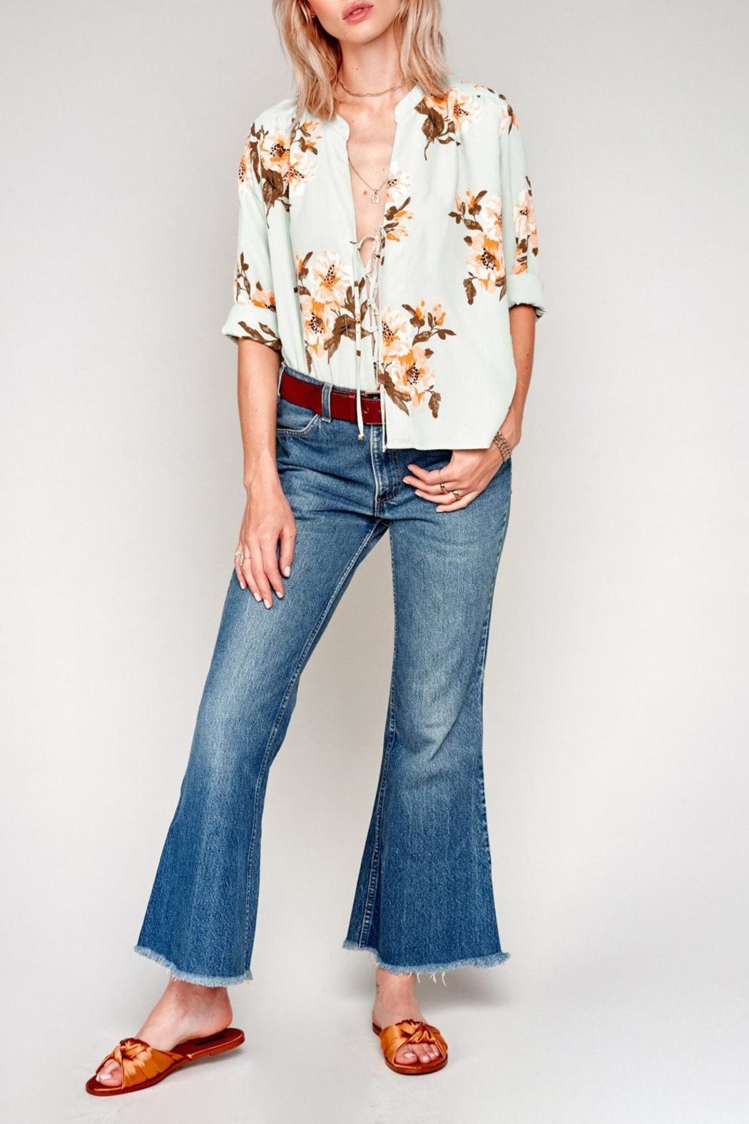 Flynn Skye Floral Chiffon Blouse - Front Full Image