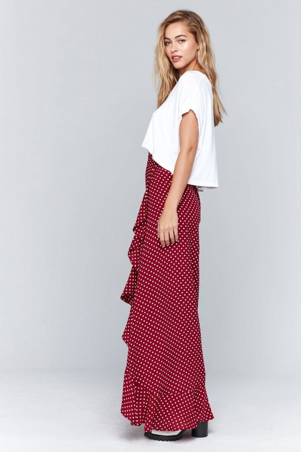 Flynn Skye Monica Maxi Skirt - Side Cropped Image