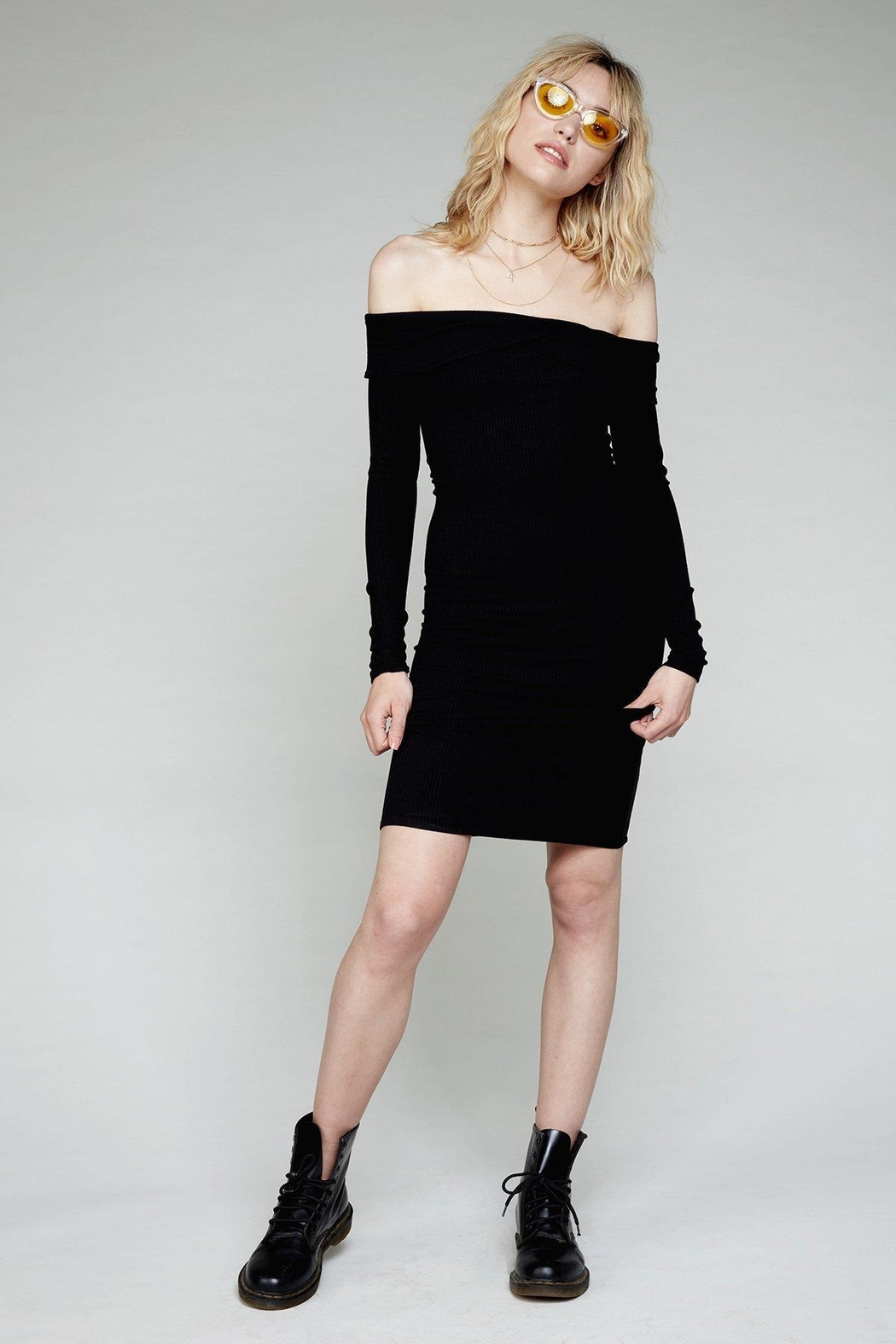 Flynn Skye Natasha Black Dress - Back Cropped Image