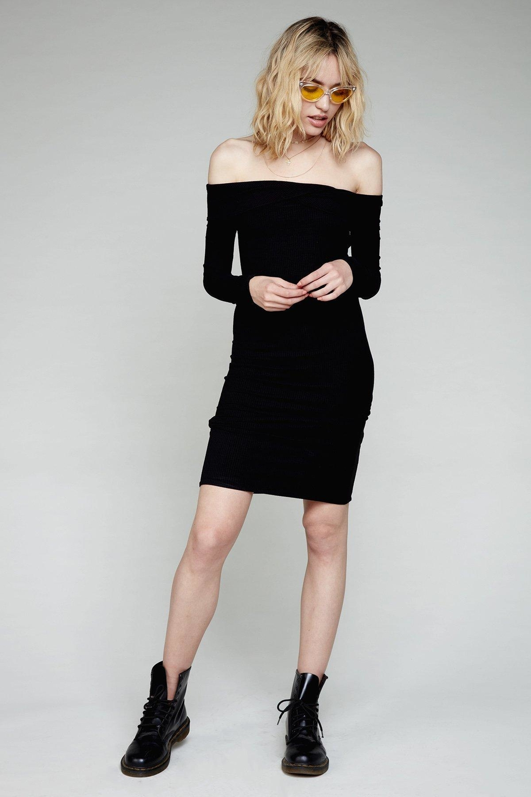 Flynn Skye Natasha Black Dress - Side Cropped Image