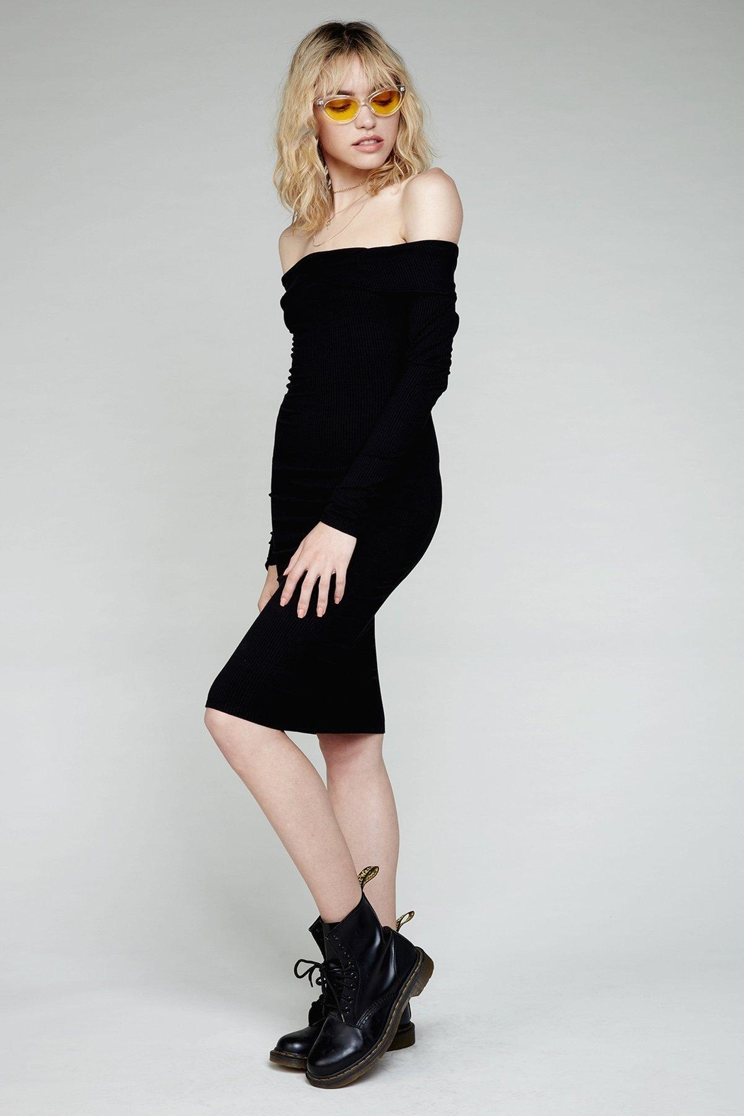 Flynn Skye Natasha Black Dress - Front Full Image