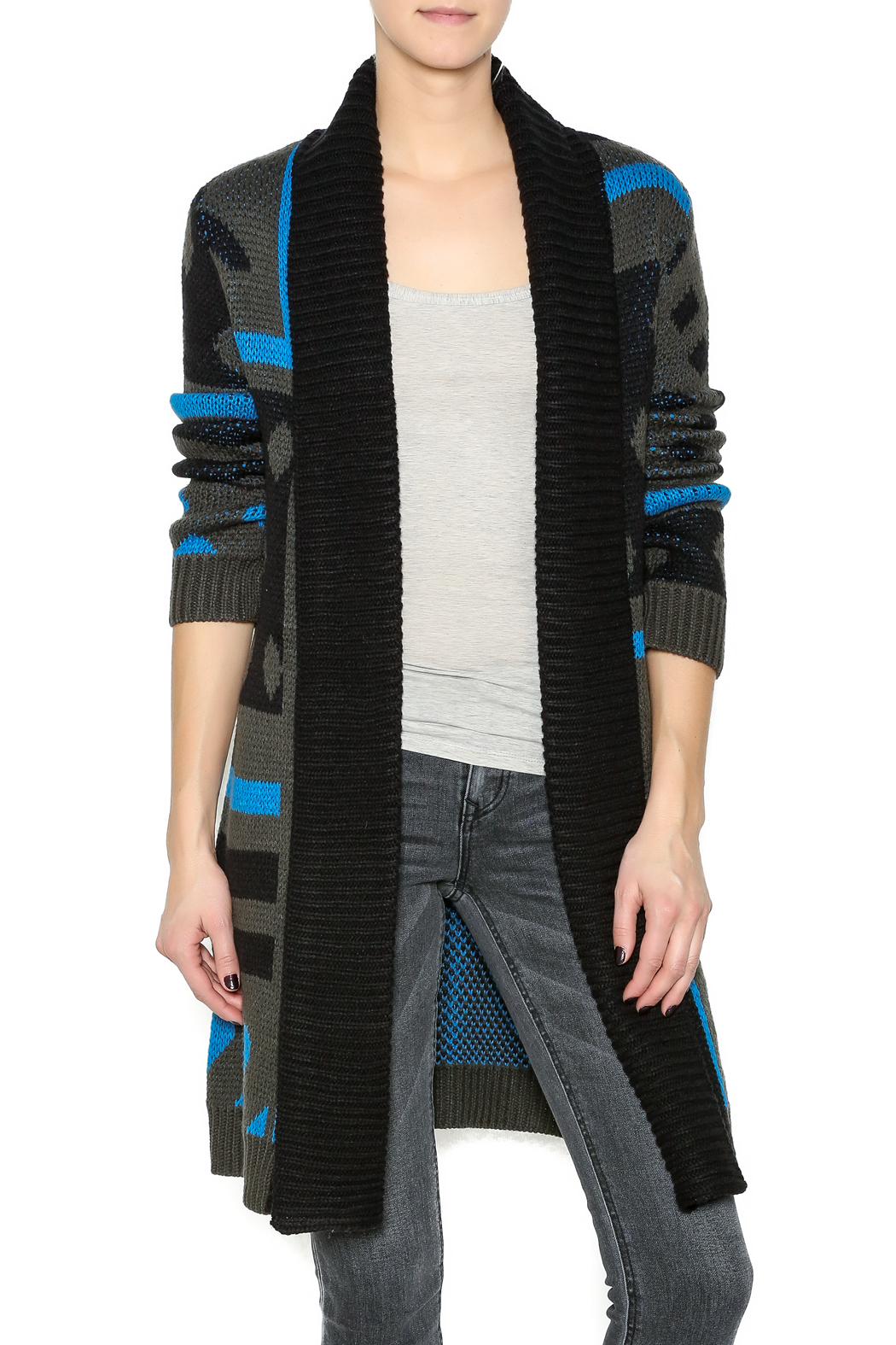 Focus 2000 Long Cardigan Sweater - Front Cropped Image
