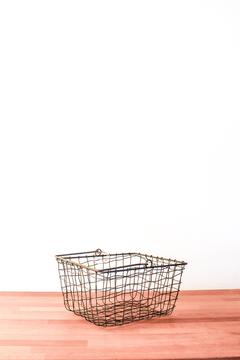 Fog Linen Work Grey Market Basket - Product List Image