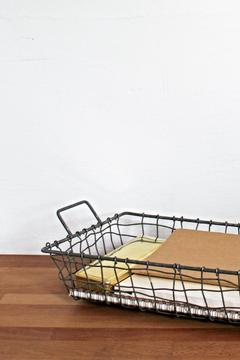 Fog Linen Work Iron Wire Tray - Alternate List Image