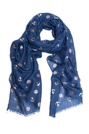 Love of Fashion Foil Anchor Scarf - Product Mini Image