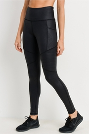 Mono B Foil Moto Hi Waist Leggings - Front full body