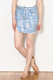 Hot & Delicious Foil Paint Skirt - Front cropped
