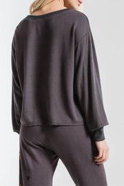 z supply Foiled Star Cropped Pullover - Side cropped