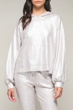 Shoptiques Product: Foiled Suede Hoodie