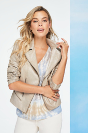 Charlie B. Foiled Suede Jacket - Front cropped
