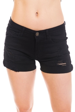 Shoptiques Product: Fold-Cuff Denim Shorts