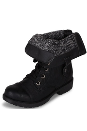 Wanted Fold-Over Combat Bootie - Product Mini Image