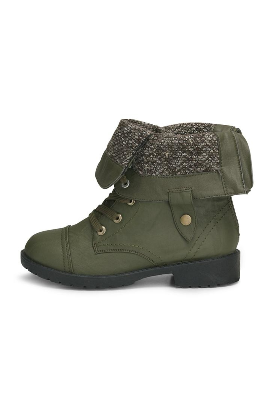 Wanted Fold-Over Combat Bootie - Front Full Image