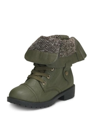 Wanted Fold-Over Combat Bootie - Front cropped