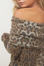 Fantastic Fawn Fold-Over Leopard Top - Side cropped