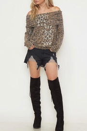 Fantastic Fawn Fold-Over Leopard Top - Front cropped