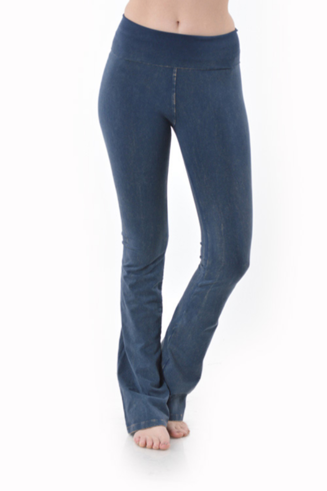 T-Party  Fold Over Mineral Wash Yoga Pant - Main Image
