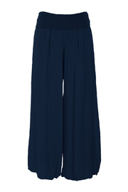 M made in Italy Fold-Over Rayon Wide Leg Pant - Product Mini Image