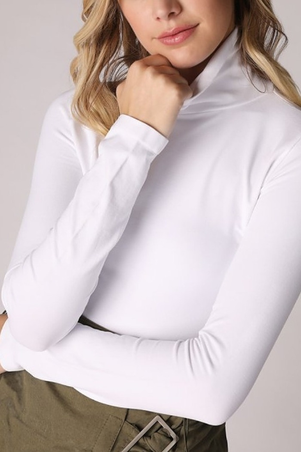 Nikibiki Foldable Layering Turtleneck - Front Cropped Image