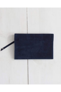 Shoptiques Product: Foldover Clutch - Navy Suede