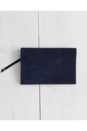 The Birds Nest Foldover Clutch - Navy Suede - Product Mini Image