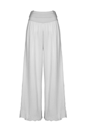 M made in Italy Foldover Waist Wide Leg Pant - Product Mini Image