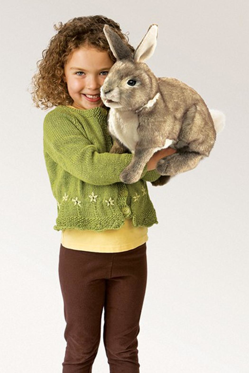 Folkmanis Cottontail-Rabbit Hand Puppet - Front Full Image