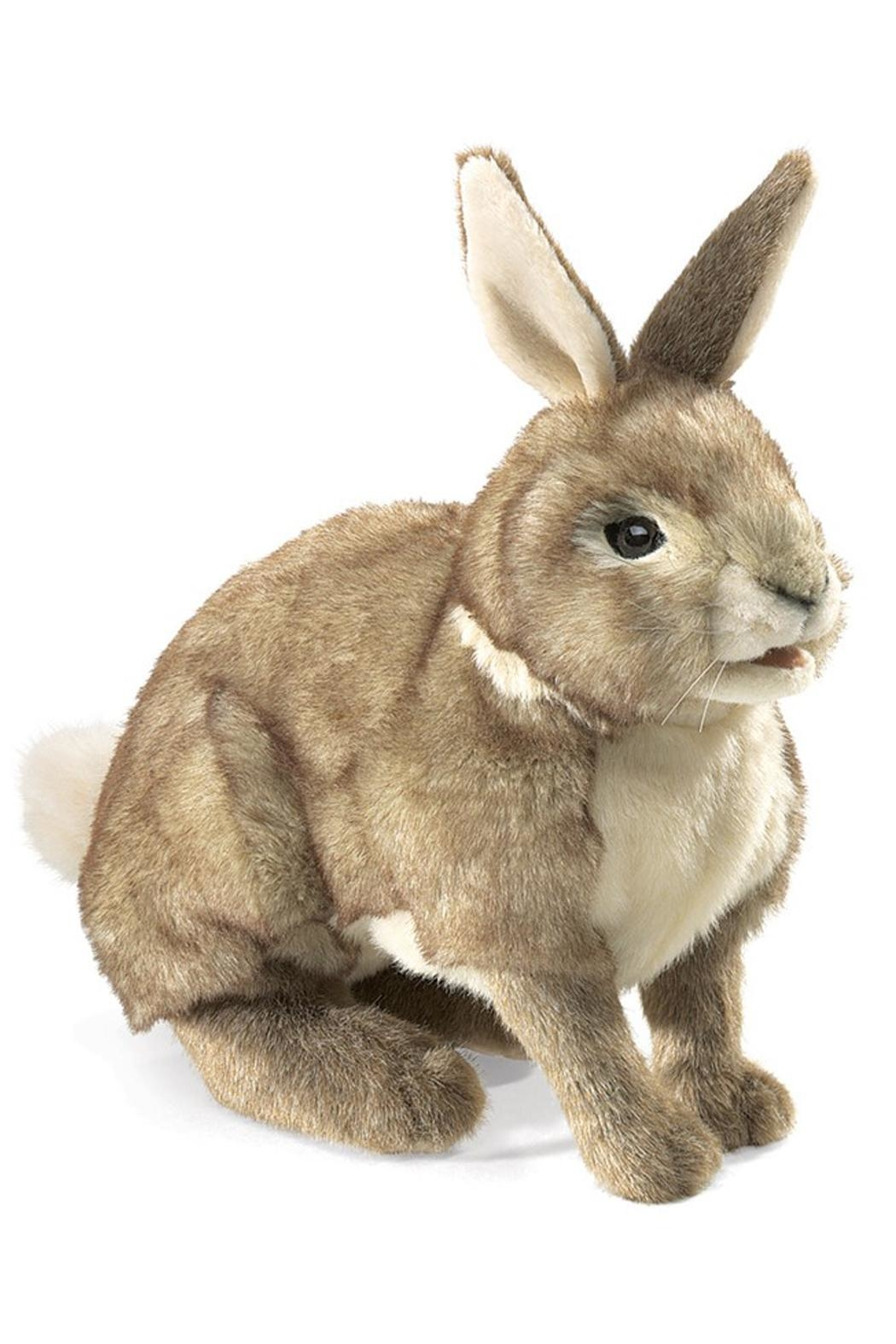 Folkmanis Cottontail-Rabbit Hand Puppet - Front Cropped Image
