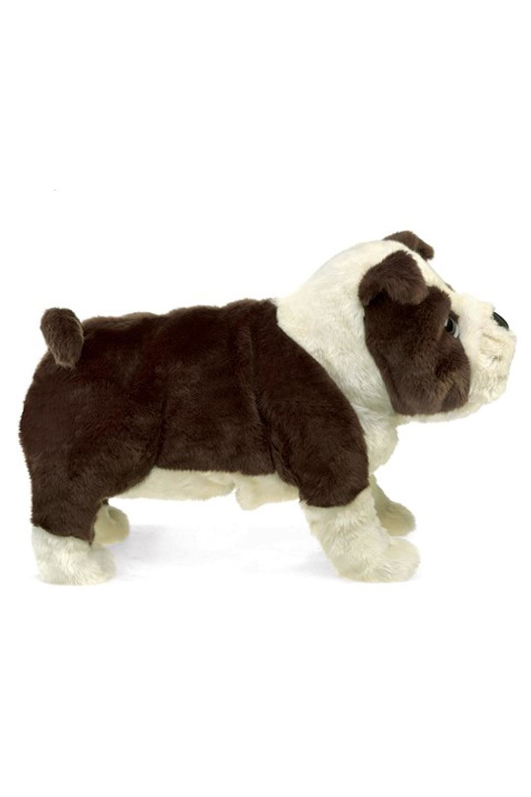 Folkmanis English-Bulldog-Puppy Hand Puppet - Side Cropped Image