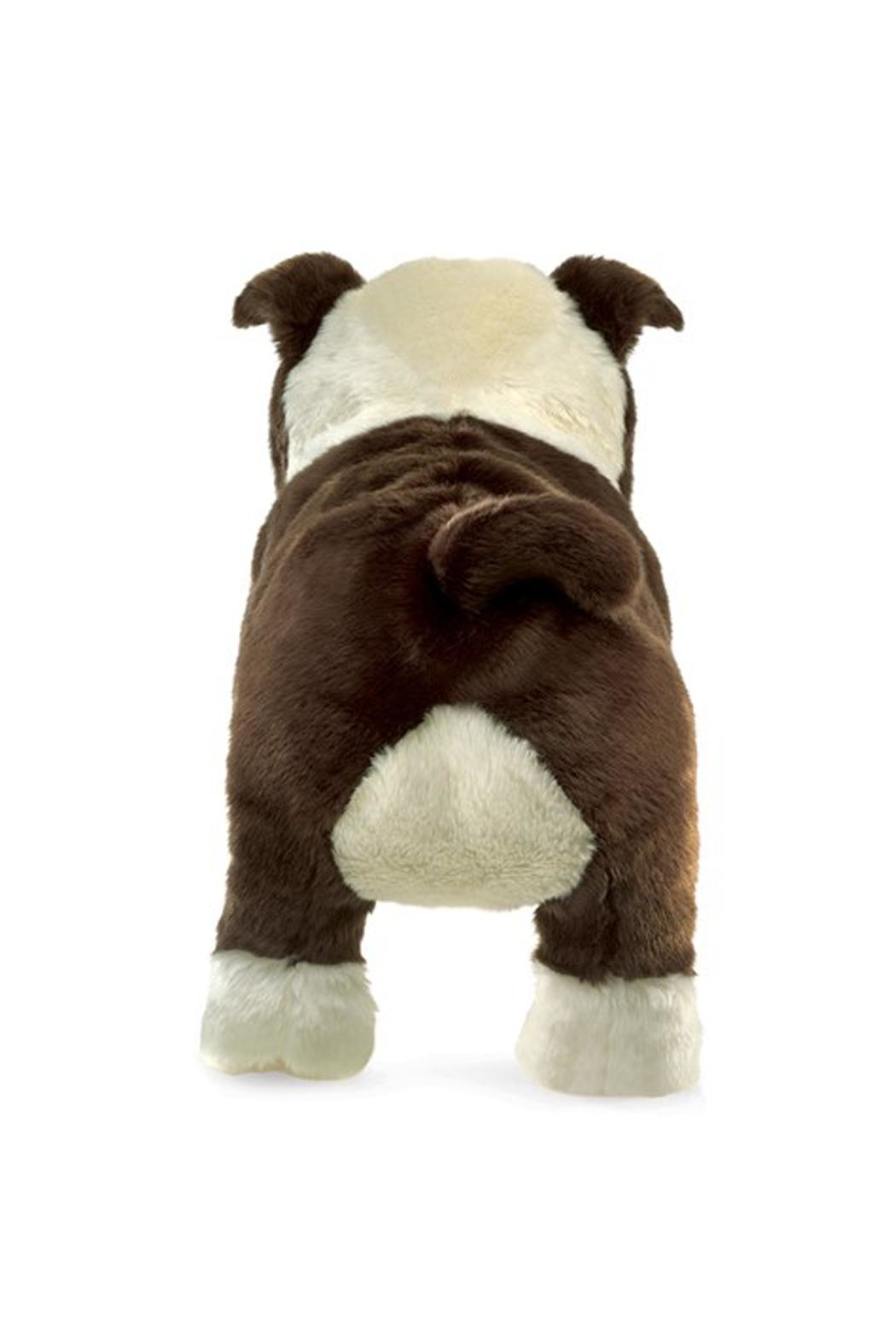 Folkmanis English-Bulldog-Puppy Hand Puppet - Front Full Image