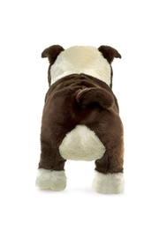 Folkmanis English-Bulldog-Puppy Hand Puppet - Front full body