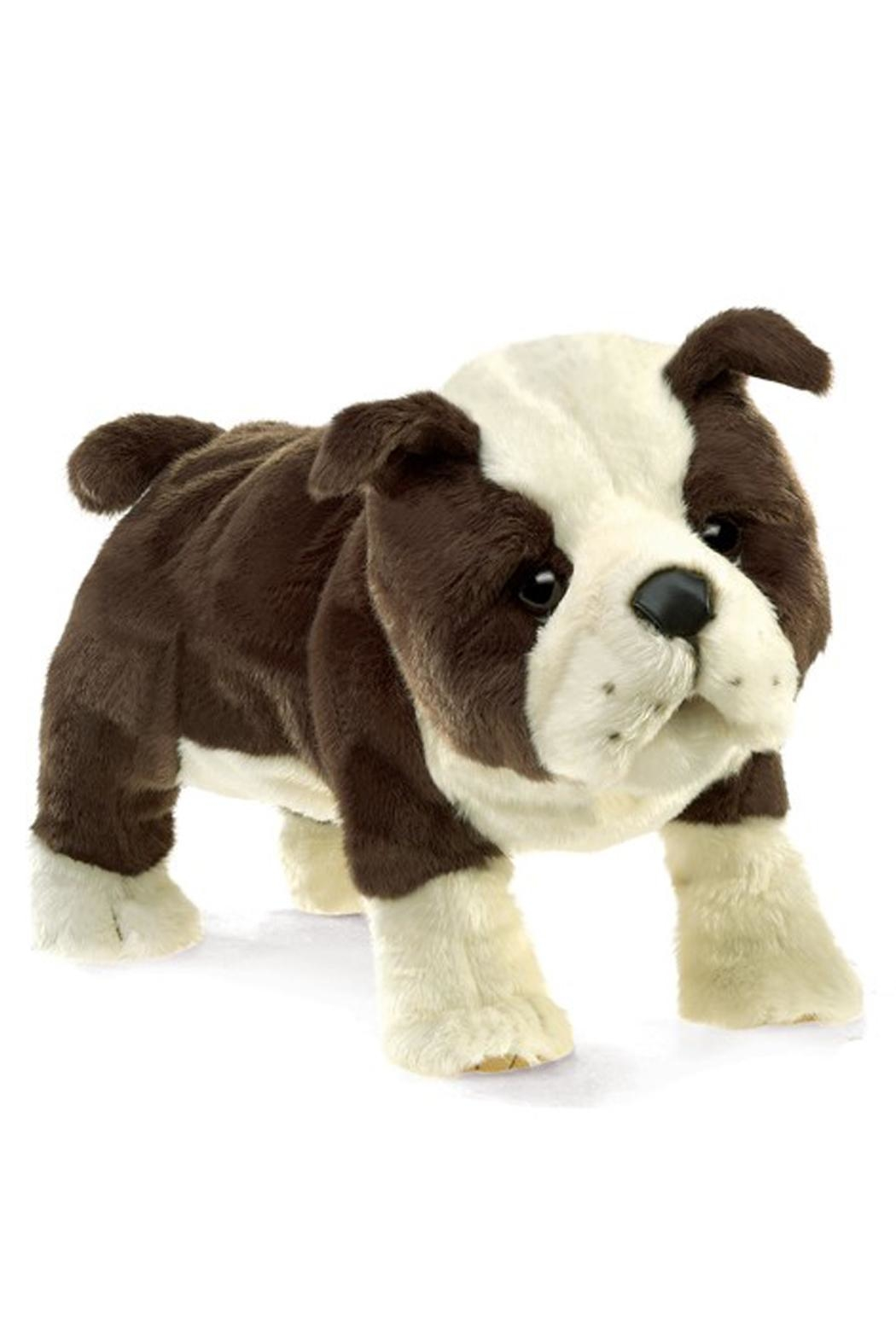 Folkmanis English-Bulldog-Puppy Hand Puppet - Front Cropped Image