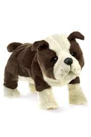 Folkmanis English-Bulldog-Puppy Hand Puppet - Front cropped