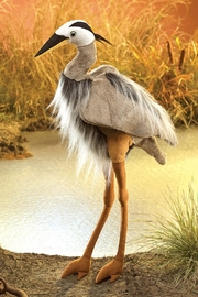 Folkmanis Great-Blue-Heron Hand Puppet - Side cropped