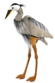 Folkmanis Great-Blue-Heron Hand Puppet - Front cropped