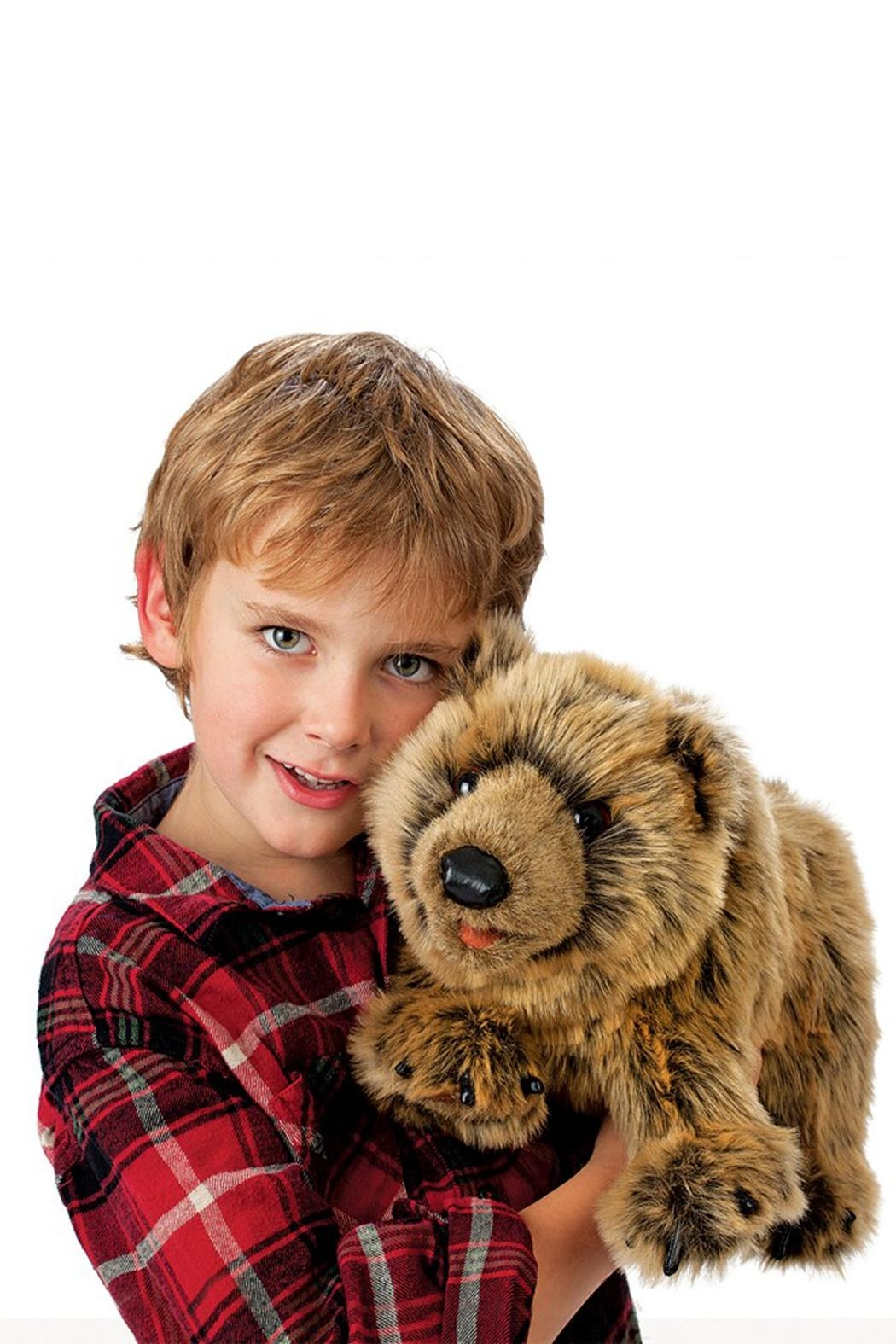 Folkmanis Grizzly-Bear Hand Puppet - Front Full Image