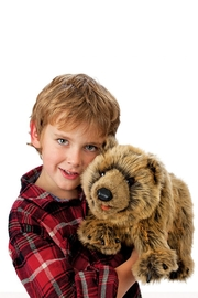 Folkmanis Grizzly-Bear Hand Puppet - Front full body