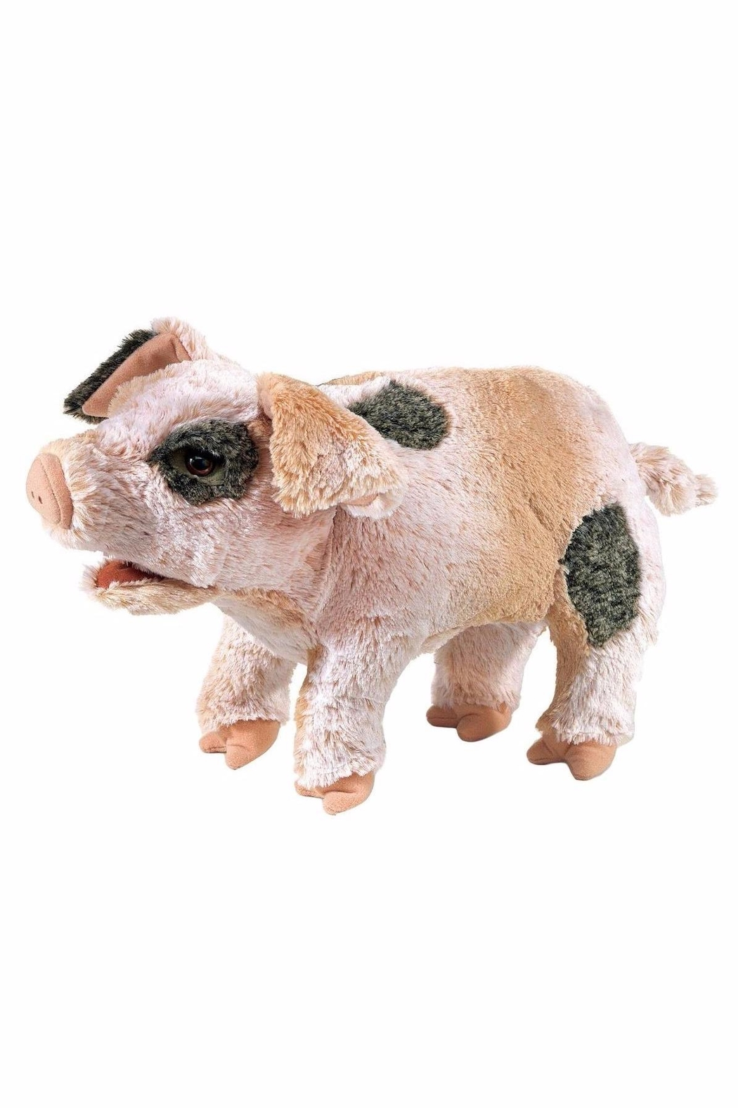 Folkmanis Grunting Pig Puppet Toy - Front Cropped Image