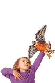 Folkmanis Kestrel Hand Puppet - Front full body