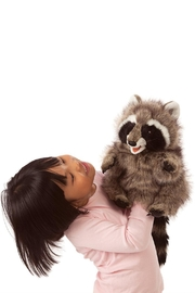 Folkmanis Raccoon Hand Puppet - Front full body