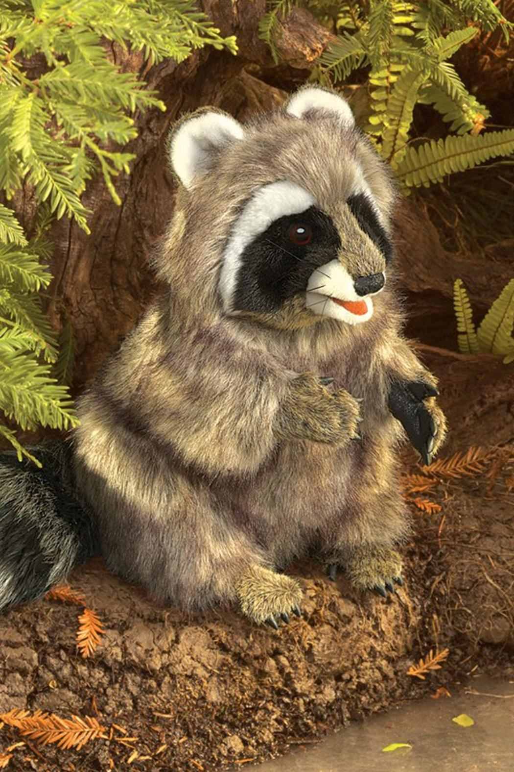 Folkmanis Raccoon Hand Puppet - Side Cropped Image