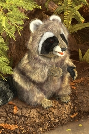 Folkmanis Raccoon Hand Puppet - Side cropped